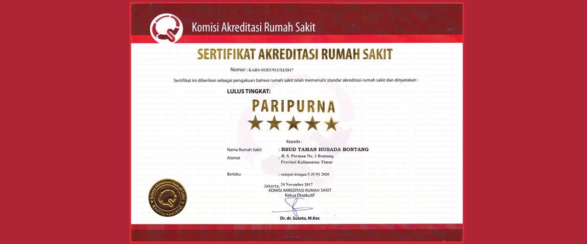 Akreditasi Rumah Sakit Tingkat Paripurna